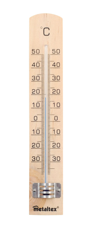 Θερμόμετρο Δωματίου Ξύλινο – METALTEX – 298005