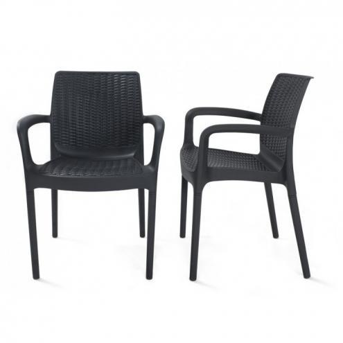 Πολυθρόνα Εξωτερικού Χώρου Wicker Bali Graphite – OEM – bali-armchair-graphite