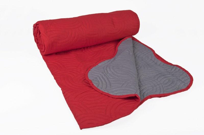 Κουβερλί Ultra Sonic Κόκκινο - Γκρι Μονό - OEM - k-3 λευκα ειδη υπνοδωμάτιο κουβερλί μονά   ημίδιπλα