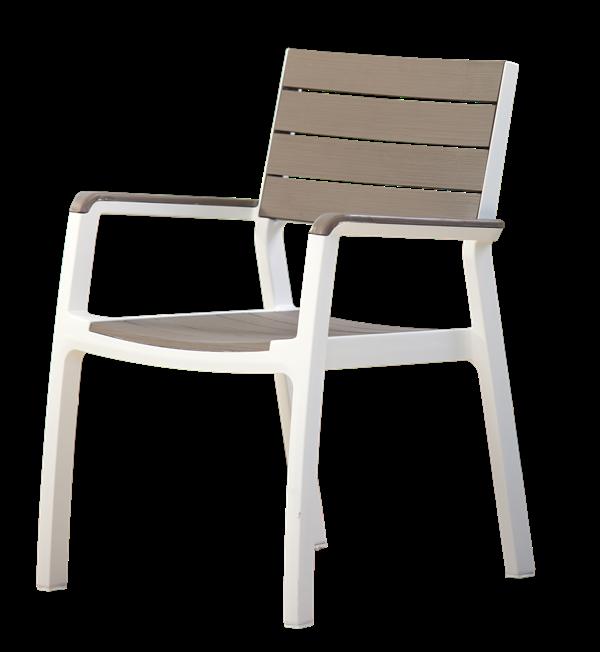 Πολυθρόνα Εξωτερικού Χώρου Harmony-Π White/Light Grey - keter - harmony-p-white/ κηποσ   βεραντα καρέκλες κήπου