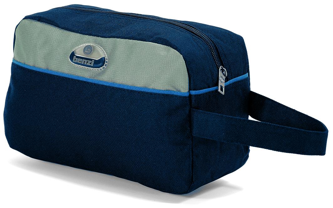 Νεσεσέρ Ανδρικό 25x17x8εκ. benzi 3048 Μπλε - benzi - bz-3048-blue καλοκαιρινα  βαλίτσες   τσάντες ταξιδίου