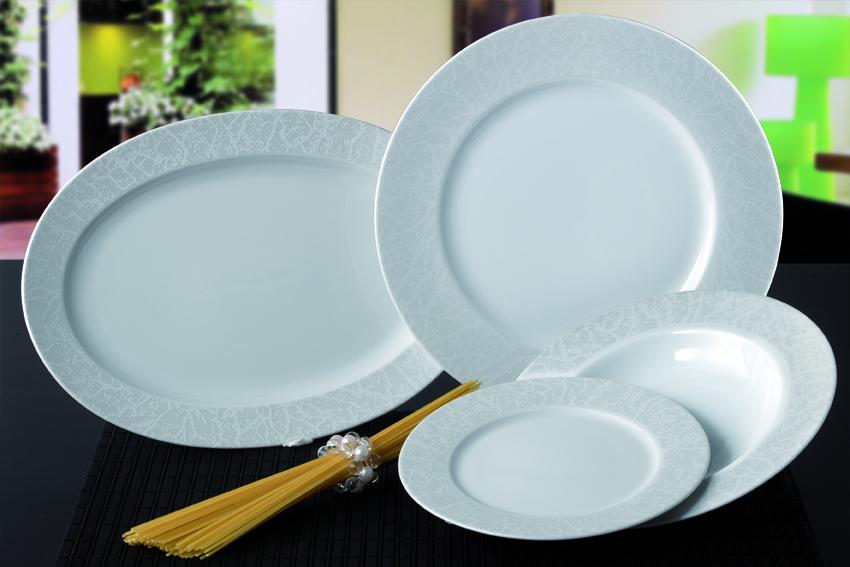Σερβίτσιο Πορσελάνης 40 Τεμαχίων - AB - 6-250white_40 κουζινα πιάτα   σερβίτσια