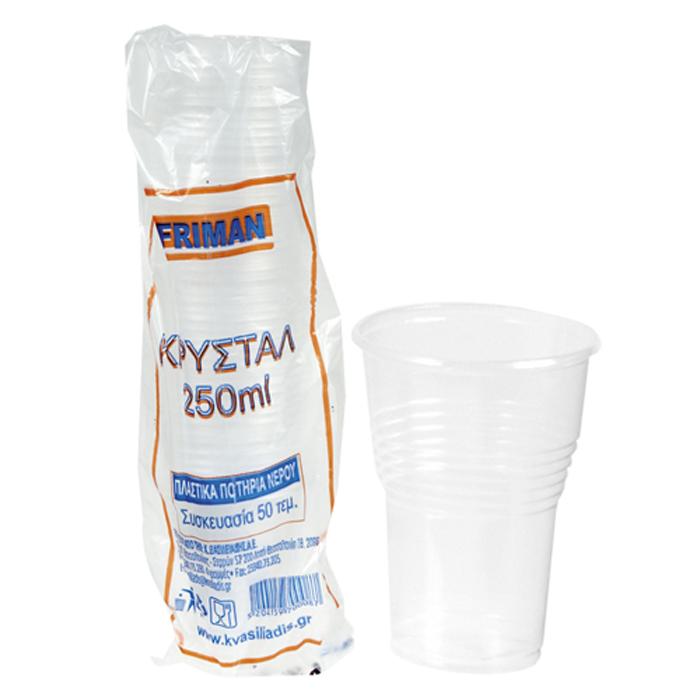 ΣΕΤ 50 Ποτήρια Μιας Χρήσεως Διαφανή – OEM – 80.125