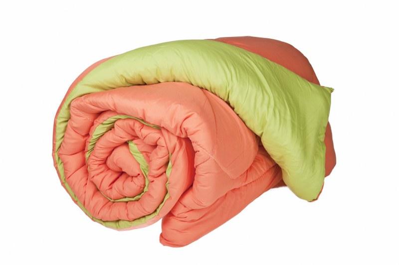 Πάπλωμα Μονό Πορτοκαλί - Λαχανί 160x240εκ. - KOMVOS HOME - pap.mono-orange-light λευκα ειδη υπνοδωμάτιο παπλώματα μονά   ημίδιπλα