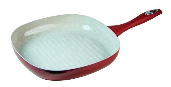 Τηγάνι - Ψηστιέρα Κεραμική Αντικολλητική 28Χ28εκ - HUMAN - tr73-28 κουζινα τηγάνια