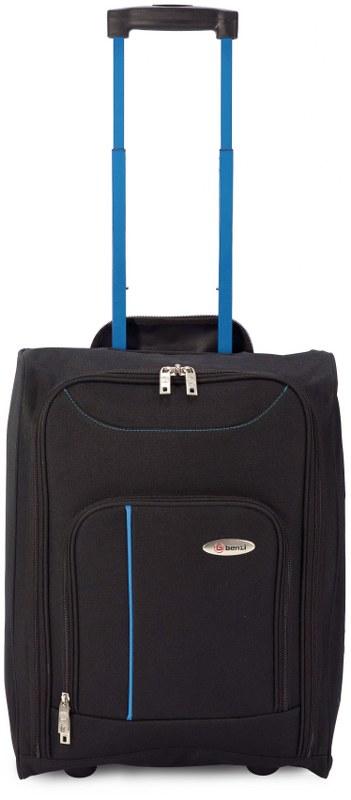 Βαλίτσα Καμπίνας Τρόλευ με Ρόδες benzi 4891 - benzi - BZ-4891-black-blue καλοκαιρινα  βαλίτσες   τσάντες ταξιδίου