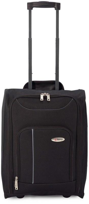 Βαλίτσα Καμπίνας Τρόλευ με Ρόδες benzi 4891 - benzi - BZ-4891-black-grey καλοκαιρινα  βαλίτσες   τσάντες ταξιδίου