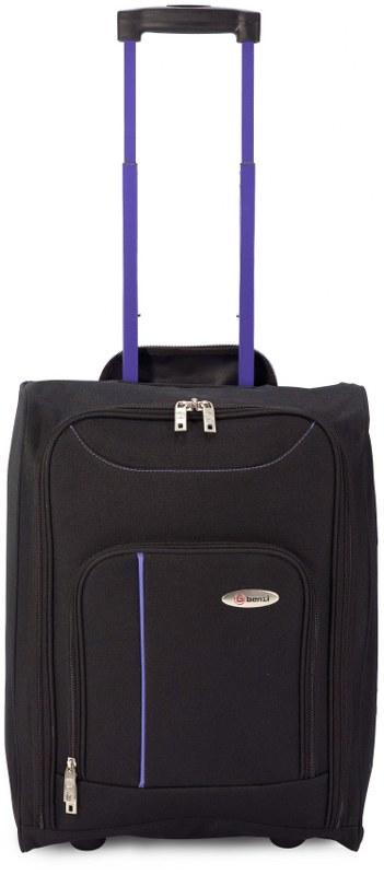 Βαλίτσα Καμπίνας Τρόλευ με Ρόδες benzi 4891 - benzi - BZ-4891-black-purple καλοκαιρινα  βαλίτσες   τσάντες ταξιδίου