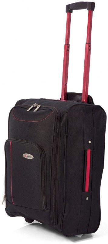 Βαλίτσα Καμπίνας Τρόλευ με Ρόδες benzi 4891 - benzi - BZ-4891-black-red καλοκαιρινα  βαλίτσες   τσάντες ταξιδίου