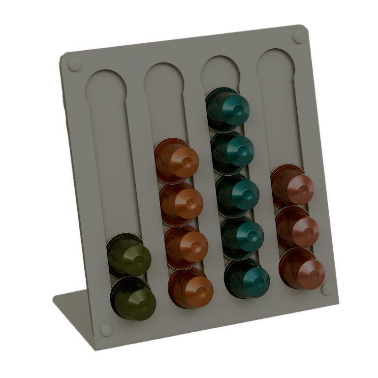 Βάση Για Κάψουλες Nespresso GLV 21x10x21εκ. Pam & Co SD100163 (Χρώμα: Γκρι) – Pam & Co – SD100163