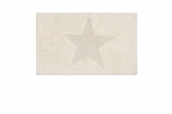 Ταπετο μπάνιου βαμβακερό Star - Palamaiki - star-ecru λευκα ειδη mπάνιο χαλάκια μπάνιου