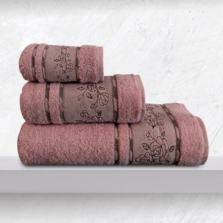 Σετ Πετσέτες 3τμχ Βαμβακερές Themis Dusty Sb home (Ύφασμα: Βαμβάκι 100%, Χρώμα: Σάπιο Μήλο ) – Sb home – 5206864059214