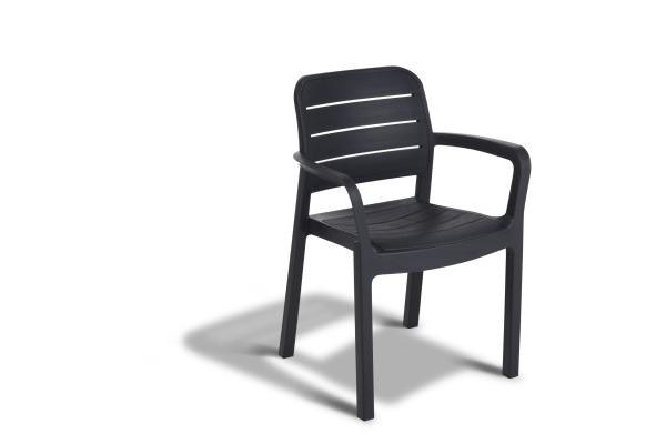 Πολυθρόνα Εξωτερικού Χώρου Tisara Anthracite – Allibert – tisara-armchair-antracite