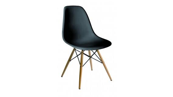 Καρέκλα SPRING WOOD μαύρη – OEM – 1-SPRING-WOOD/PC_mauro