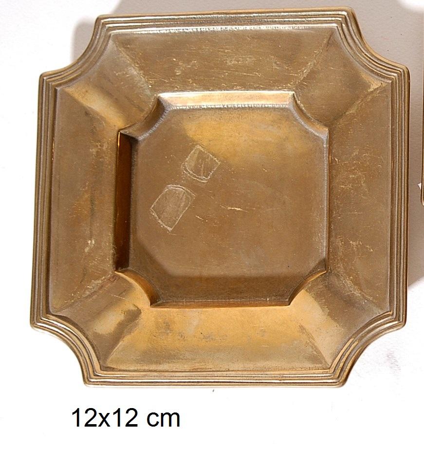 Τασάκι Μπρούτζινο Royal Art 12x12εκ. STL108GL (Υλικό: Μπρούτζινο) - Royal Art Collection - STL108GL