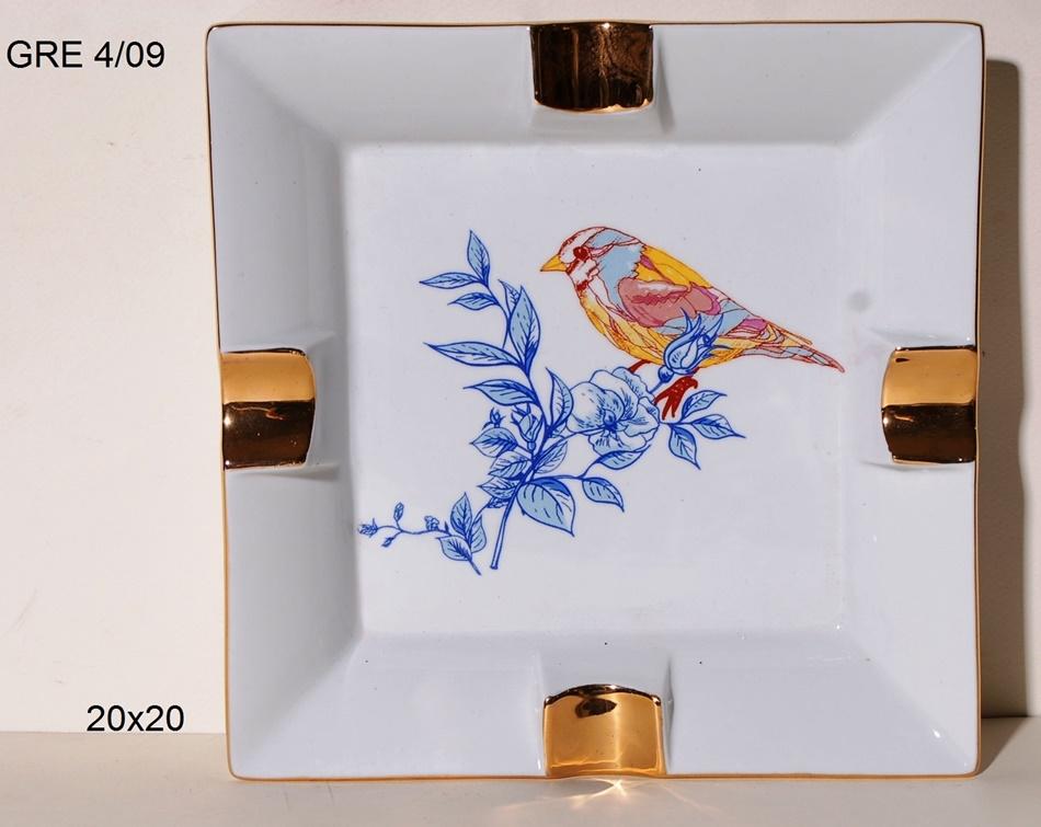 Τασάκι Πορσελάνης Royal Art 20x20εκ. GRE4/10 (Υλικό: Πορσελάνη) - Royal Art Collection - GRE4/10