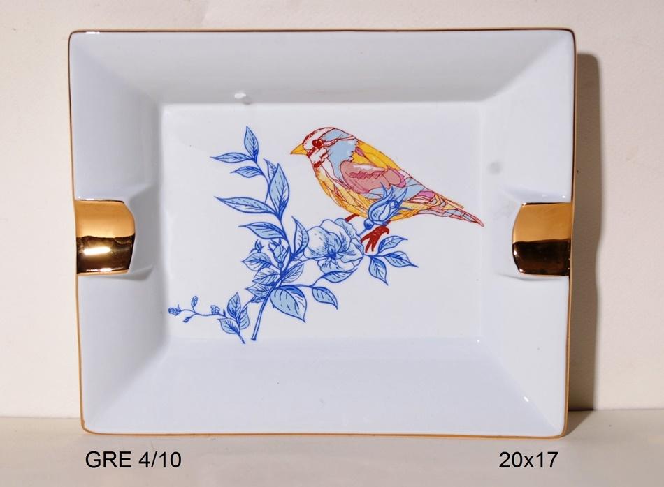 Τασάκι Πορσελάνης Royal Art 20x17εκ. GRE4/11 (Υλικό: Πορσελάνη) - Royal Art Collection - GRE4/11