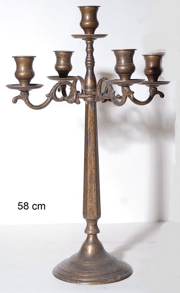 Κηροπήγιο Μπρούτζινο 5 Θέσεων Royal Art 58εκ. STL1131BR (Υλικό: Μπρούτζινο) - Royal Art Collection - STL1131BR