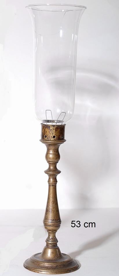 Κηροπήγιο Μπρούτζινο-Γυάλινο Royal Art 53εκ. STL20155BR (Υλικό: Γυαλί) - Royal Art Collection - STL20155BR