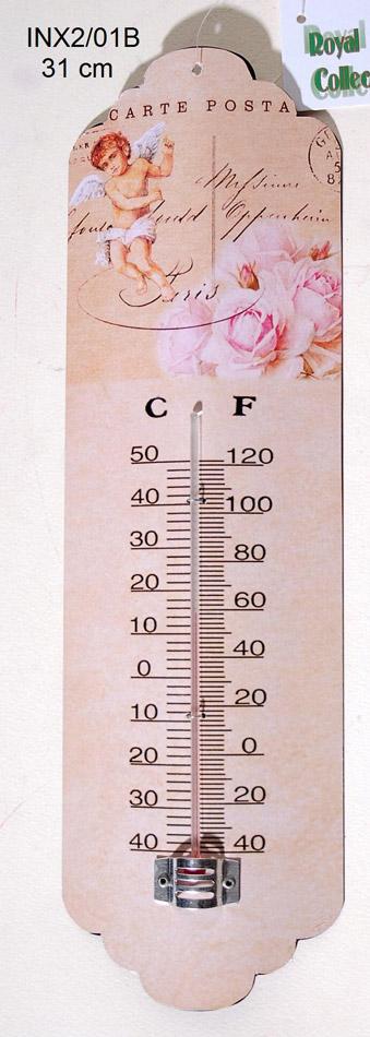 Θερμόμετρο Τοίχου Vintage-Μεταλλικό Royal Art 31εκ. INX2/01B (Υλικό: Μεταλλικό) – Royal Art Collection – INX2/01B