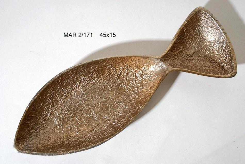 Διακοσμητική Πιατέλα Αλουμινίου Royal Art 45×15εκ. MAR2/171 (Υλικό: Αλουμίνιο, Χρώμα: Χρυσό ) – Royal Art Collection – MAR2/171