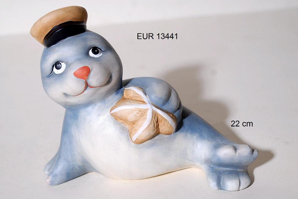 Διακοσμητική Φώκια Κεραμική Royal Art 22εκ. EUR13441 (Υλικό: Κεραμικό) - Royal Art Collection - EUR13441