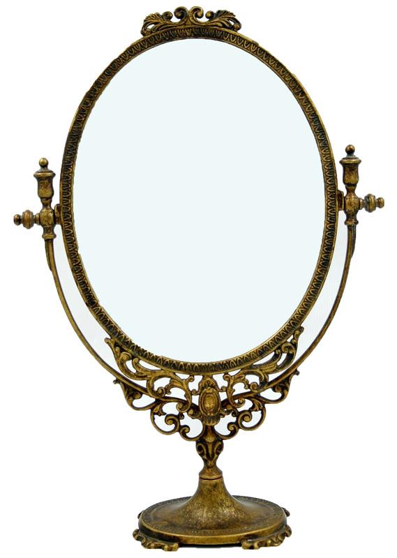 Επιτραπέζιος Kαθρέπτης Μπρούτζινος Royal Art 48εκ. STL067BR (Υλικό: Μπρούτζινο) - Royal Art Collection - STL067BR