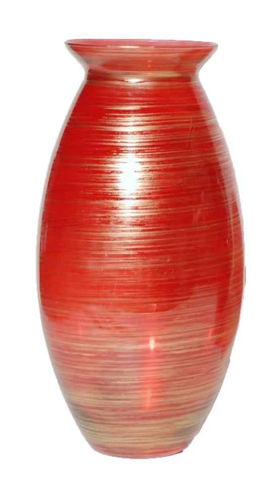 Bάζο Γυάλινο Royal Art 37εκ. DUE12/0438RD (Υλικό: Γυαλί, Χρώμα: Κόκκινο) - Royal Art Collection - DUE12/0438RD