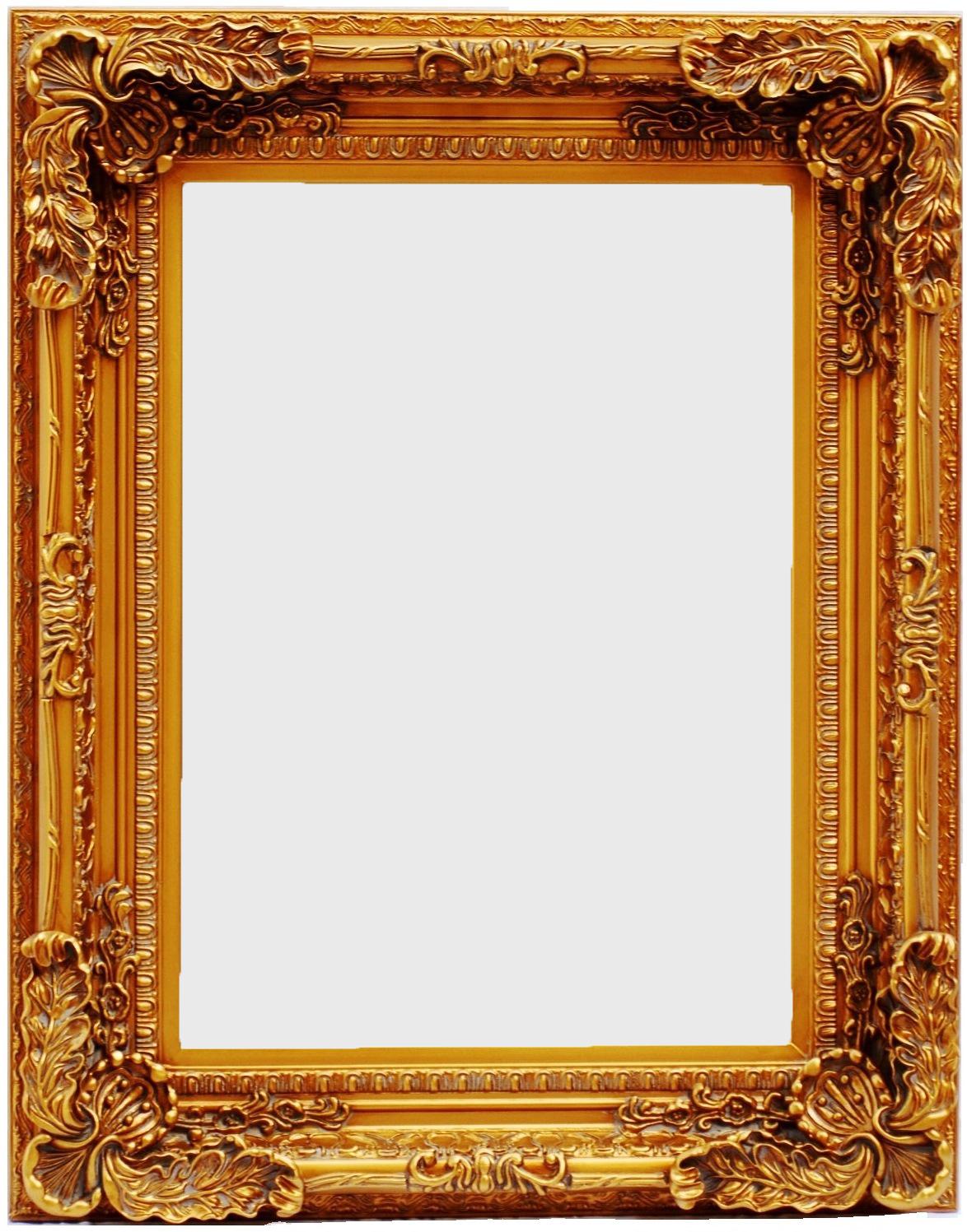 Καθρέπτης Ξύλινος Royal Art 50x70εκ. INA3/3204/70GL (Υλικό: Ξύλο, Χρώμα: Χρυσό ) - Royal Art Collection - INA3/3204/70GL