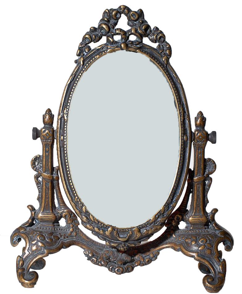 Επιτραπέζιος Καθρέπτης Μπρούτζινος Royal Art 30εκ. STL601BR (Υλικό: Μπρούτζινο) - Royal Art Collection - STL601BR