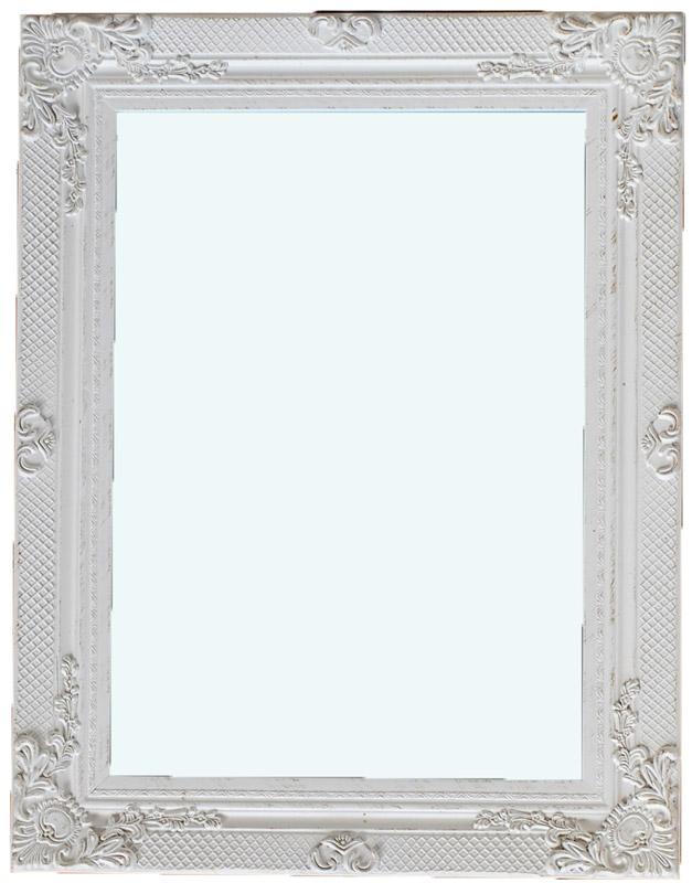 Καθρέπτης Ξύλινος Royal Art 60x90εκ. INA3/3171/90WT (Υλικό: Ξύλο, Χρώμα: Λευκό) - Royal Art Collection - INA3/3171/90WT