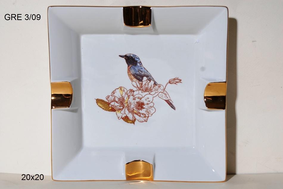 Τασάκι Πορσελάνης Royal Art 20x20εκ. GRE3/10 (Υλικό: Πορσελάνη) - Royal Art Collection - GRE3/10