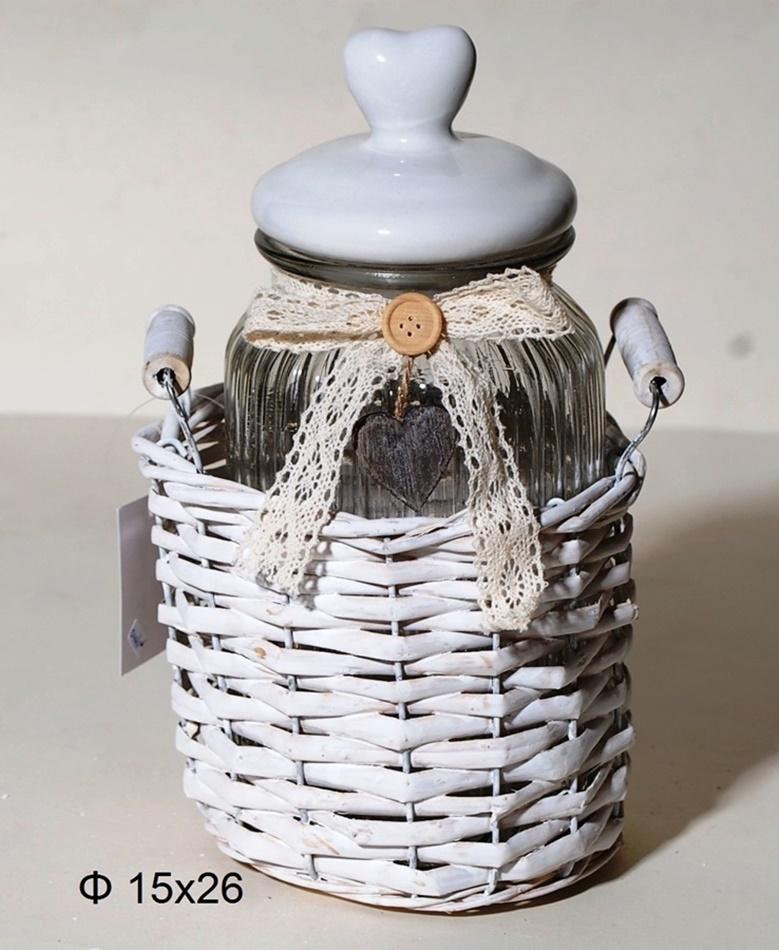 Βάζο Κουζίνας Γυάλινο Royal Art 15×26εκ. YOB046/1G (Υλικό: Πορσελάνη) – Royal Art Collection – YOB046/1G