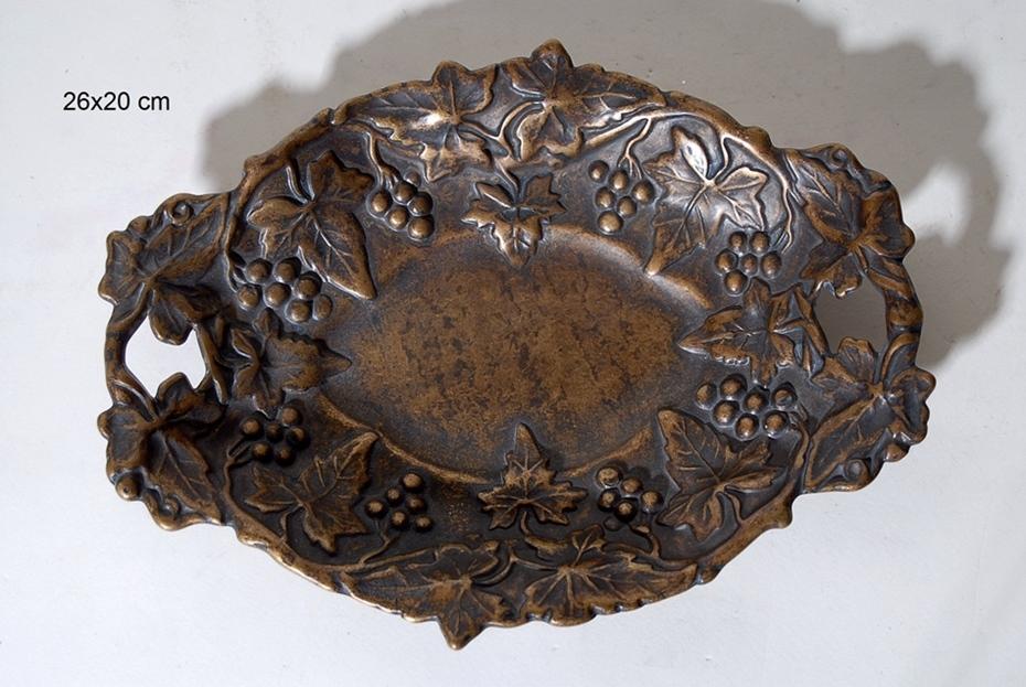 Διακοσμητικό Μπωλ Αντικέ-Μπρούτζινο Royal Art 26×20εκ. STL1039BR (Υλικό: Μπρούτζινο) – Royal Art Collection – STL1039BR