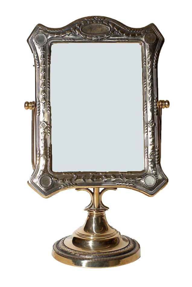 Επιτραπέζιος Καθρέπτης Μπρούτζινος Royal Art 25εκ. STL061GL (Υλικό: Μπρούτζινο) - Royal Art Collection - STL061GL