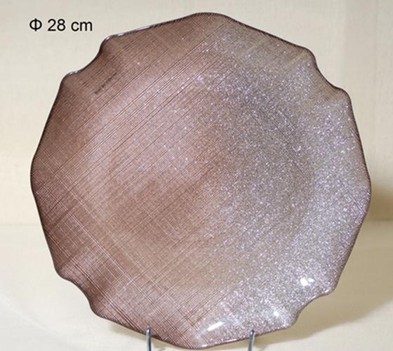 Πιατέλα Σερβιρίσματος Γυάλινη Royal Art 28εκ. AKA7/55A (Υλικό: Γυαλί) – Royal Art Collection – AKA7/55A