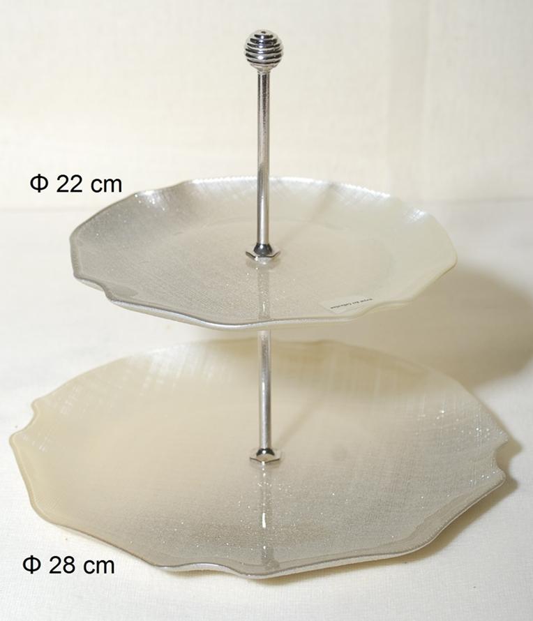 Ορντερβιέρα 2 Όροφη Γυάλινη Royal Art 28εκ. AKA7/7401 (Υλικό: Γυαλί) – Royal Art Collection – AKA7/7401