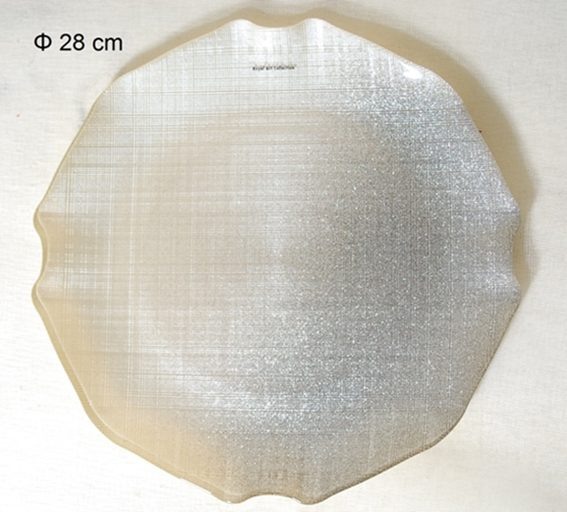 Πιατέλα Σερβιρίσματος Γυάλινη Royal Art 28εκ. AKA7/7401A (Υλικό: Γυαλί) – Royal Art Collection – AKA7/7401A