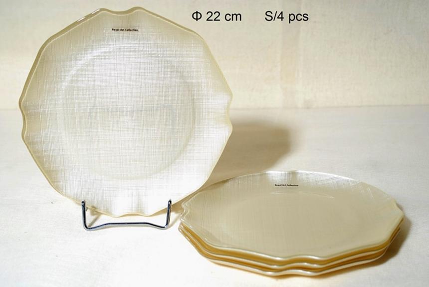 Σετ Πάστας 4τμχ Γυάλινα Royal Art 22εκ. AKA7/7401B (Υλικό: Γυαλί) – Royal Art Collection – AKA7/7401B