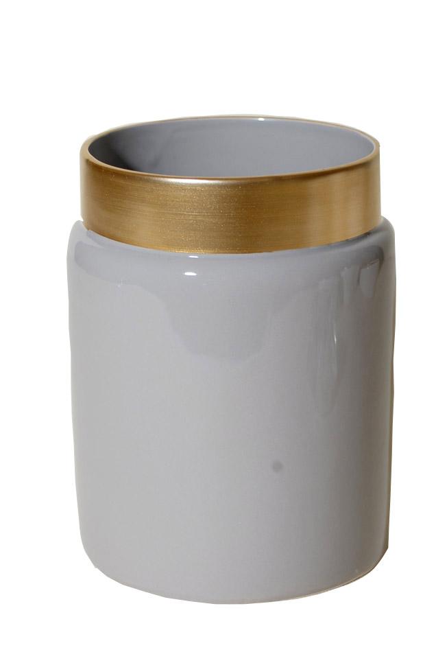 Βάζο Κεραμικό Royal Art 14×18εκ. STA60099BE (Υλικό: Κεραμικό, Χρώμα: Μπεζ) – Royal Art Collection – STA60099BE
