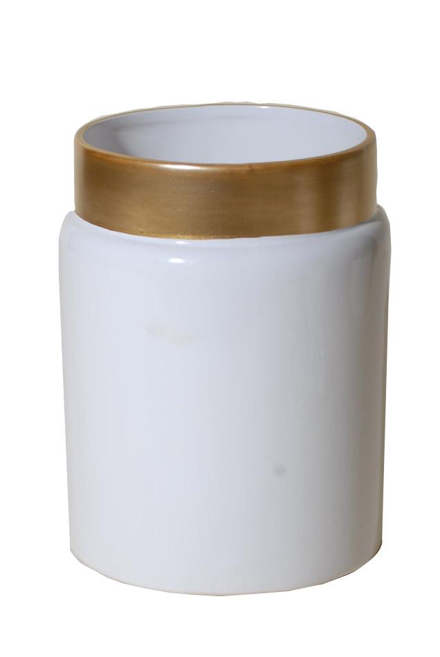 Βάζο Κεραμικό Royal Art 14x18εκ. STA60099WT (Υλικό: Κεραμικό, Χρώμα: Λευκό) - Royal Art Collection - STA60099WT