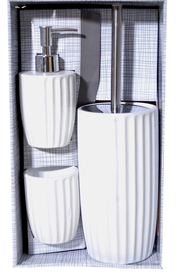 Σετ Μπάνιου 3τμχ Κεραμικό Royal Art STA60945WT (Υλικό: Κεραμικό, Χρώμα: Λευκό) – Royal Art Collection – STA60945WT