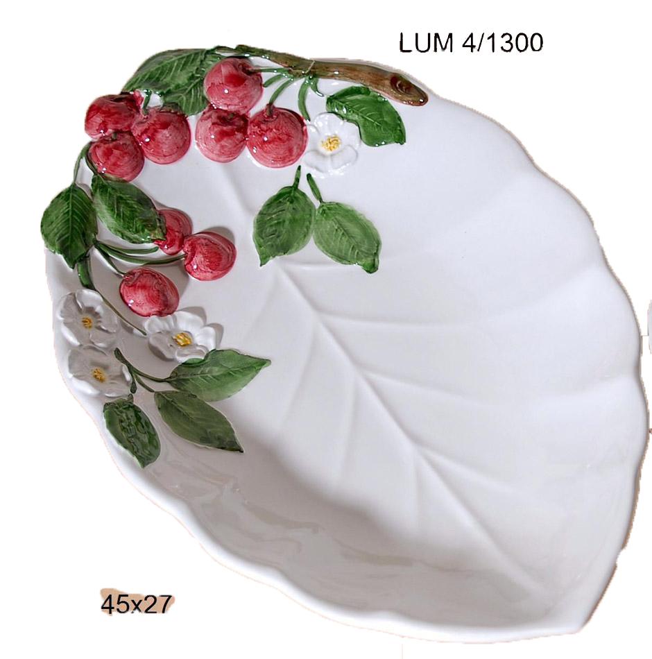 Μπωλ Σερβιρίσματος Φαγιάνς Royal Art 45×27εκ. LUM4/1300 (Χρώμα: Λευκό, Υλικό: Φαγιάνς) – Royal Art Collection – LUM4/1300