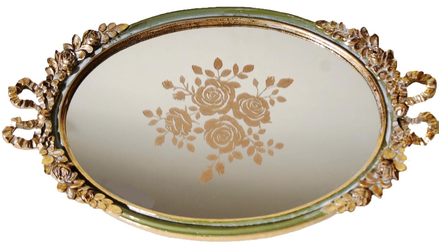 Δίσκος Σερβιρίσματος Με Καθρέπτη Πολυεστερικός Royal Art 36×21εκ. YUA4/230GR (Χρώμα: Πράσινο , Υλικό: Πολυεστερικό) – Royal Art Collection – YUA4/230GR