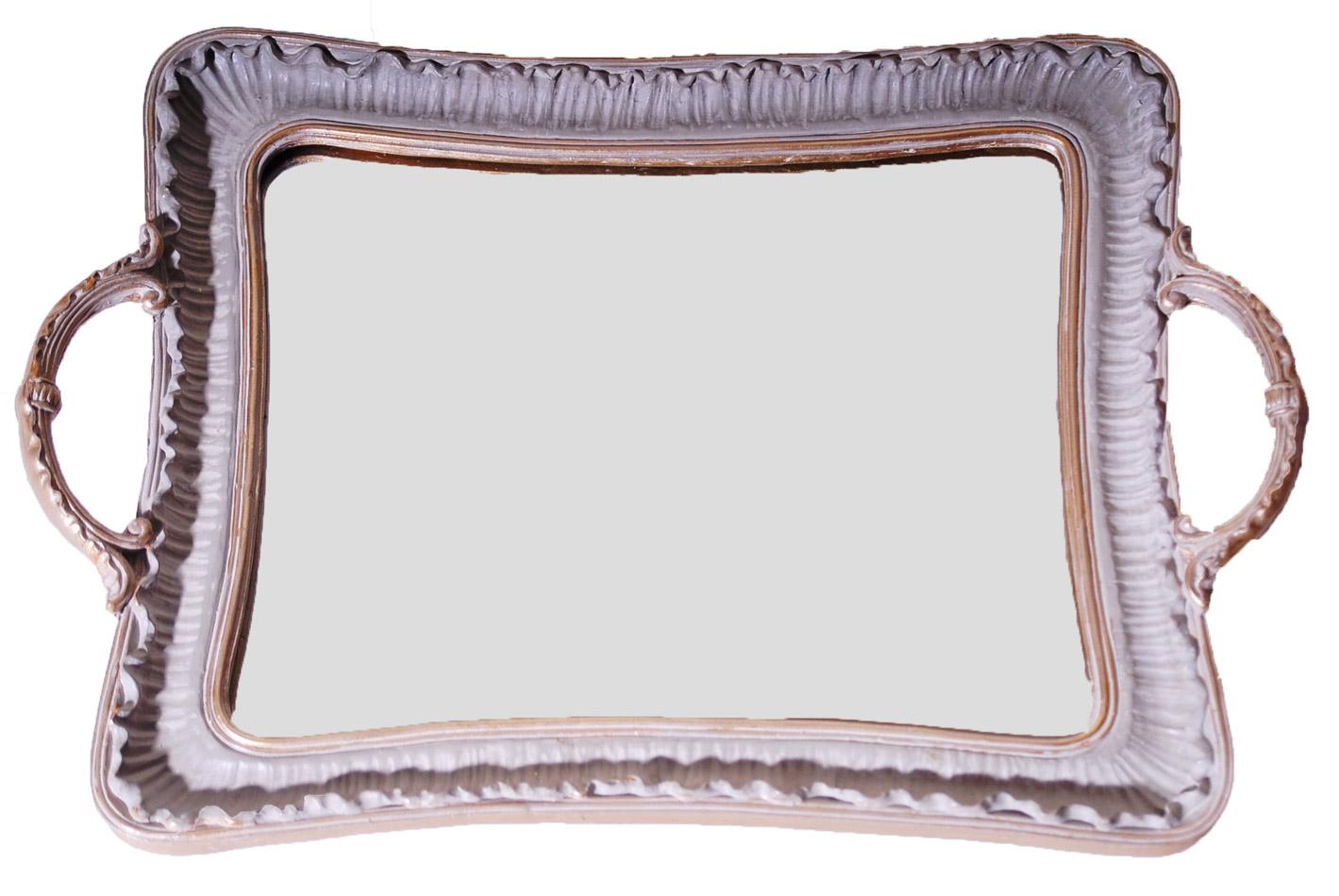 Δίσκος Σερβιρίσματος Με Καθρέπτη Πολυεστερικός Royal Art 32×23εκ. YUA4/228GR (Χρώμα: Λευκό, Υλικό: Πολυεστερικό) – Royal Art Collection – YUA4/228GR