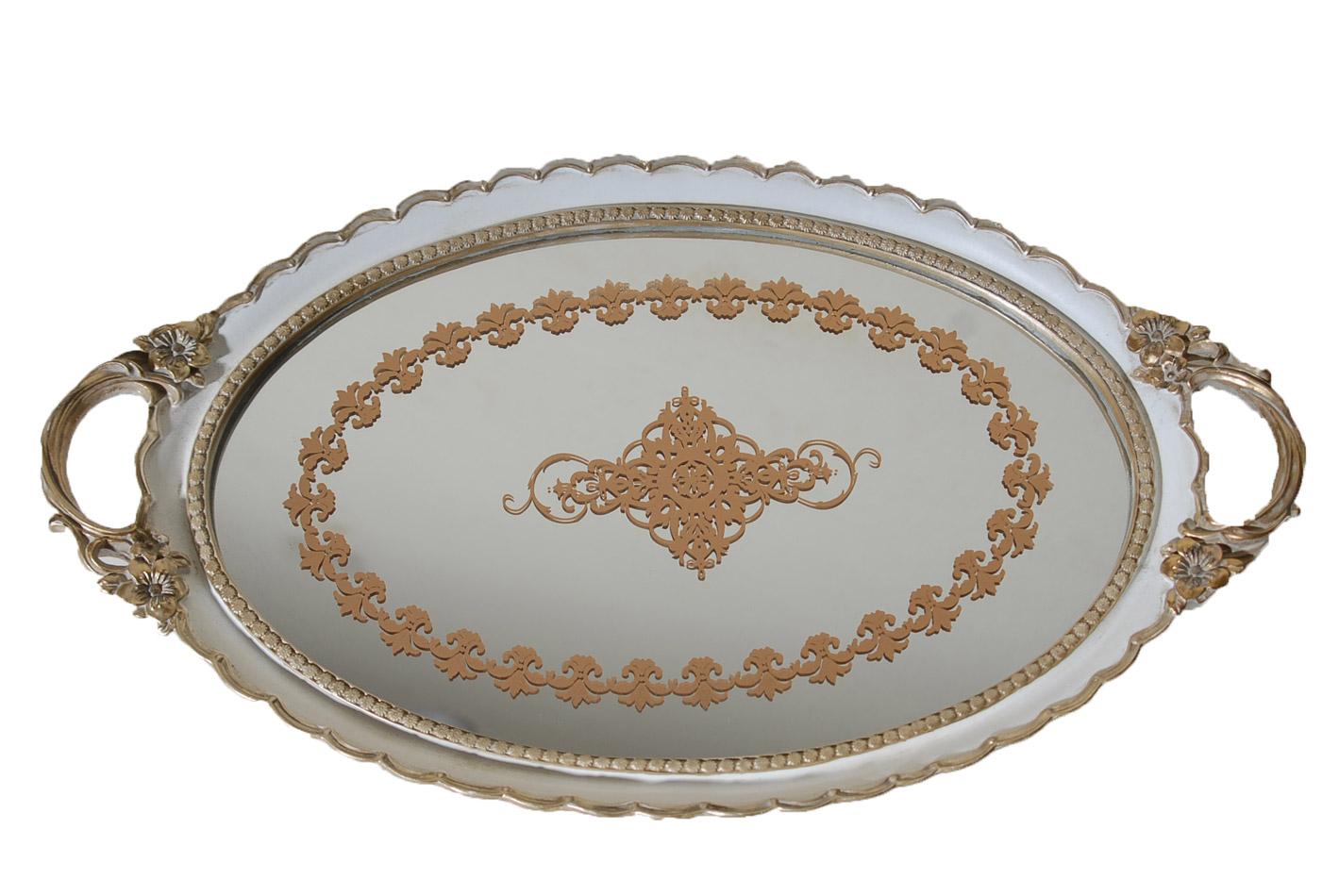 Δίσκος Σερβιρίσματος Με Καθρέπτη Πολυεστερικός Royal Art 50×30εκ. YUA4/241CR (Χρώμα: Λευκό, Υλικό: Πολυεστερικό) – Royal Art Collection – YUA4/241CR
