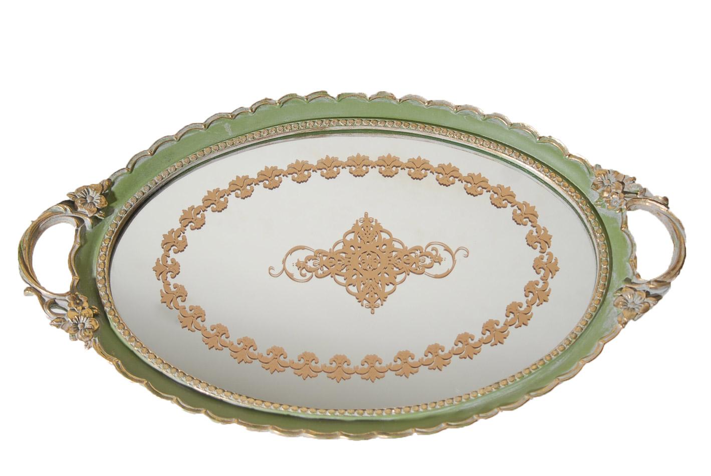 Δίσκος Σερβιρίσματος Με Καθρέπτη Πολυεστερικός Royal Art 50×30εκ. YUA4/241GR (Χρώμα: Πράσινο , Υλικό: Πολυεστερικό) – Royal Art Collection – YUA4/241GR