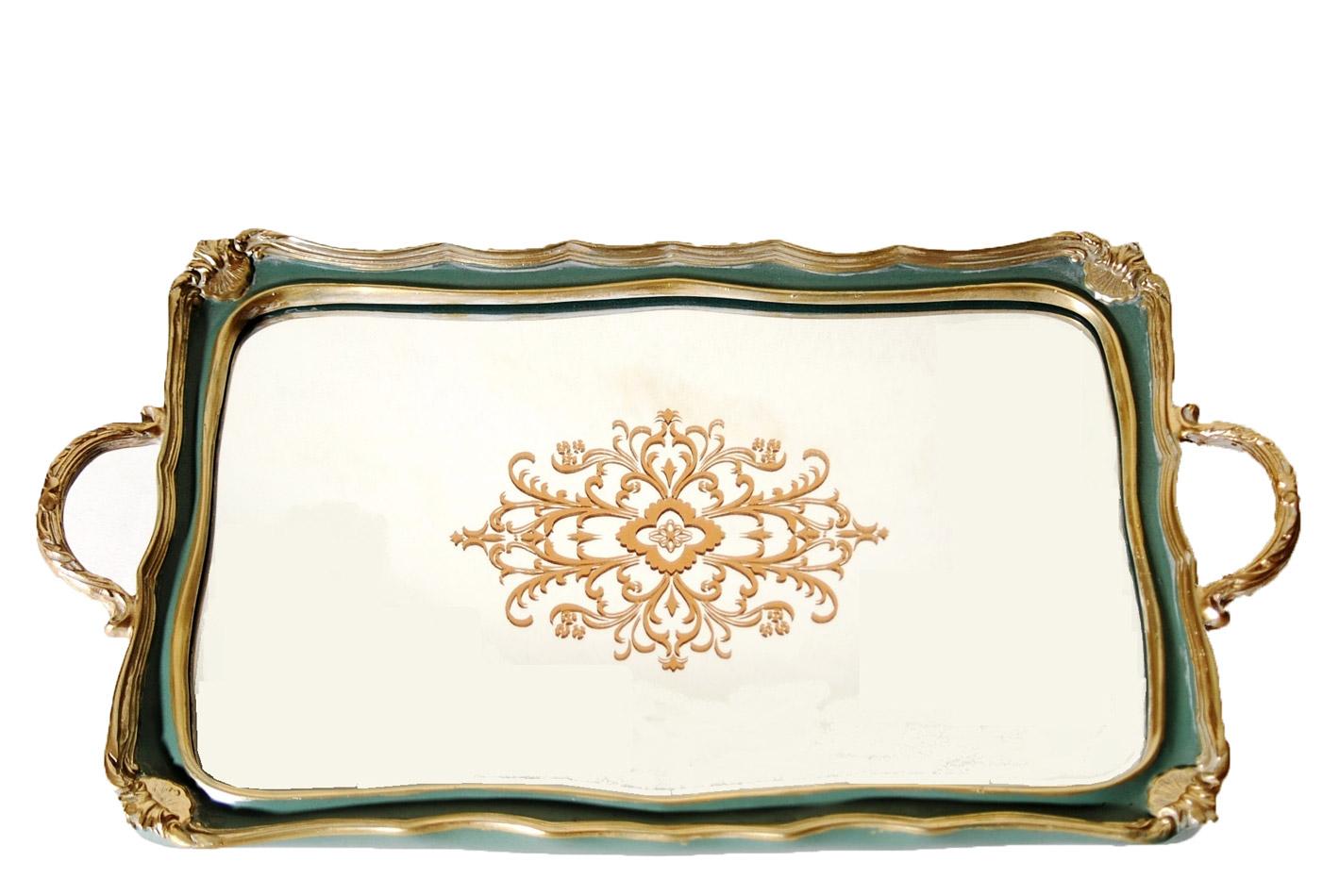 Δίσκος Σερβιρίσματος Με Καθρέπτη Πολυεστερικός Royal Art 50×30εκ. YUA4/516GR (Χρώμα: Πράσινο , Υλικό: Πολυεστερικό) – Royal Art Collection – YUA4/516GR