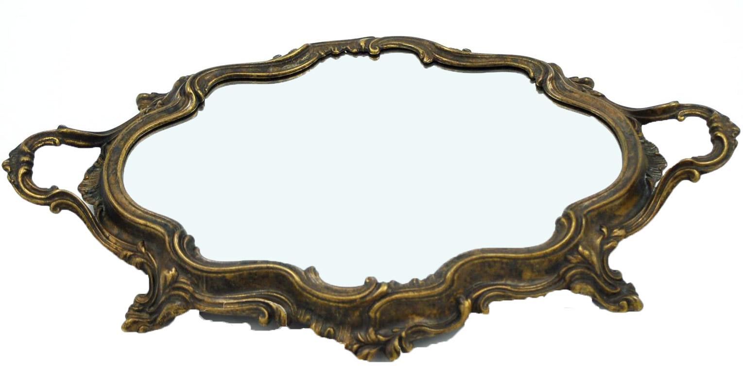 Δίσκος Σερβιρίσματος Με Καθρέπτη Μπρούτζινος Royal Art 48×30εκ. STL1172BR (Υλικό: Μπρούτζινο) – Royal Art Collection – STL1172BR