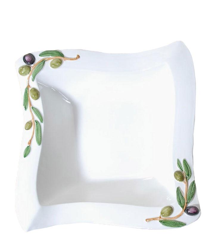 Μπωλ Σερβιρίσματος Φαγιάνς Royal Art 31×31εκ. LUM1912 (Χρώμα: Λευκό, Υλικό: Φαγιάνς) – Royal Art Collection – LUM1912